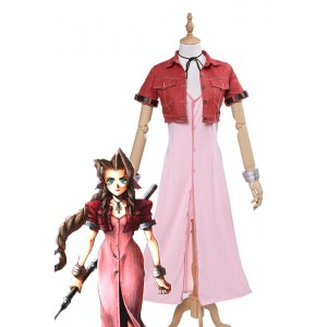 Final Fantasy VII 7 Aerith Cosplay Costumes