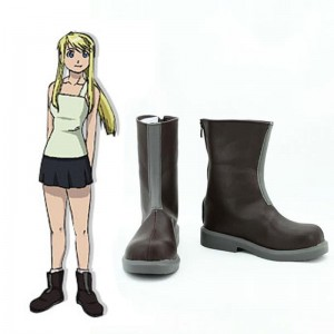 Fullmetal Alchemist Anime Winry Rockbell Cosplay Shoes Boots Custom Made