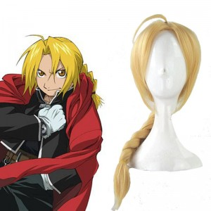 Fullmetal Alchemist Edward Elric 45cm Long Golden Cosplay Wig