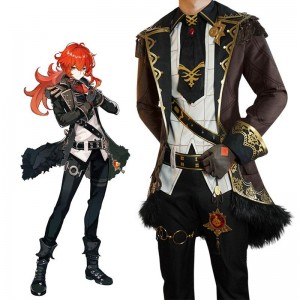 Game Genshin Impact Diluc Cosplay Costume