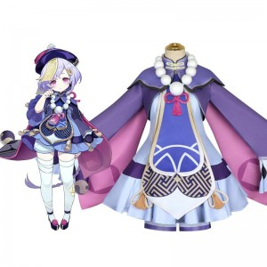 Game Genshin Impact Qiqi Icy Resurrection Cosplay Costume
