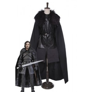A Song of Ice and Fire Jon Snow Cloak Cosplay Costumes