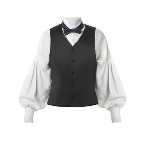 Men Renaissance Victorian Medieval Gentry Shirt With Vest For Sale