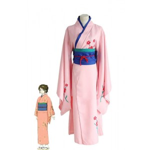 Traje de Cosplay Gintama Shimura Tae Con color brillante