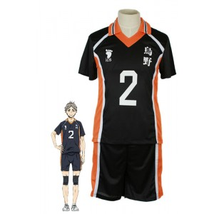 Haikyū!! Kōshi Sugawara Number 2 Volleyball Sports Cosplay Costumes