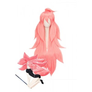 Land of the Lustrous Houseki no Kuni Morganite Long Pink Synthetic Anime Cosplay Wigs