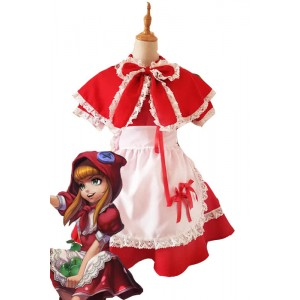League of Legends Game Red Annie Perfect Restore Cosplay Dress