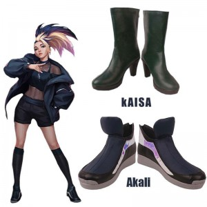LOL KDA BADDEST Evelynn & Akali Cosplay Shoes