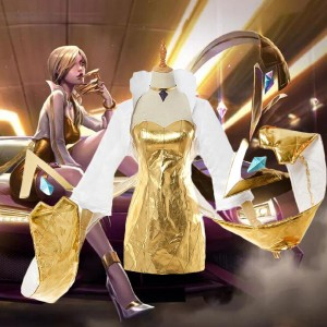 LOL KDA Evelynn Prestige Cosplay Costume Full Sets