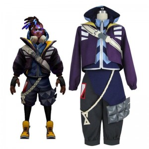 LOL True Damage Ekko Male Cosplay Costume