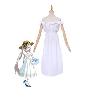 Fate/Grand Order Rider Marie Antoinette White Dress Cosplay Costumes