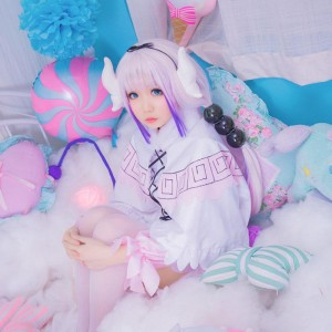 Miss Kobayashi's Dragon Maid Kanna Kobayashi Cosplay Costumes