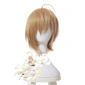 Jinlingsuo Mengjinaji 30cm Golden Game Cosplay Wig