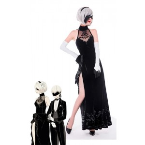 Nier: Automata Game 2b Evening Dress Cosplay Costumes
