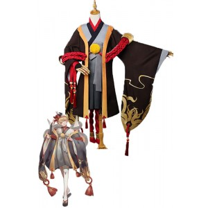 Onmyoji Yin Yang Master Initial Value Brown Game Cosplay Kimono Outfits