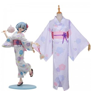 Re  Zero-Starting life in another World Rem Kimono Yukata Cosplay Costume