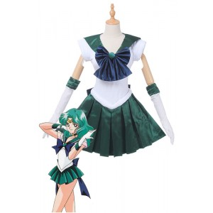Traje de Cosplay de Sailor Moon Sailor Neptune Kaiou Michiru Lucha Uniforme