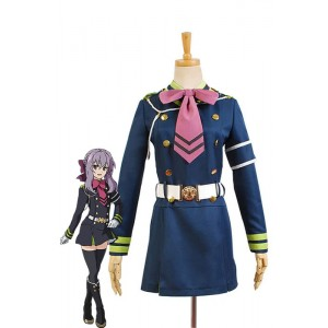 Seraph Of The End Shinoa Hiragi Uniforme del vestido del traje de Cosplay