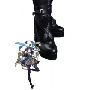 SINoALICE Alice Black Game Cosplay Woman Shoes