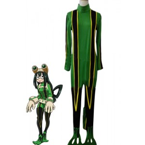 My Hero Academia Tsuyu Asui Anime Cosplay Costumes Battle Costumes