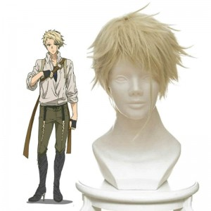 Violet Evergarden Benedict Blue Short Yellow Straight Anime Cosplay Man Wigs