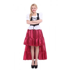 Women Long Dress Wine Dance Cosplay Costumes