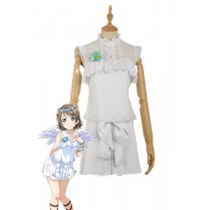 Love Live Sunshine Angel Aqours Unawaken You Watanabe White Dress Anime Cosplay Costumes