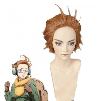 12 Taisen Juuni Taisen Sharyuu Brown Short Cosplay Wig