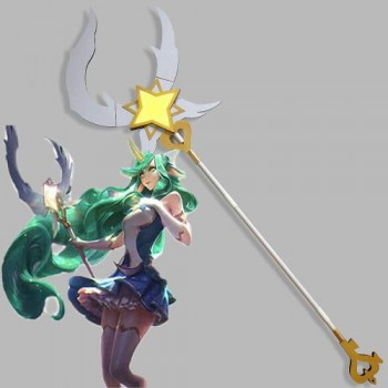 LOL Magical Girl Soraka Bastón Cosplay Props