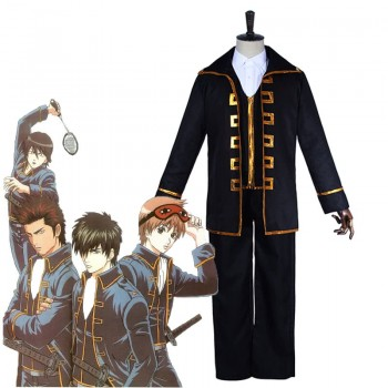 Gintama Toushirou Hijikata/Sougo Okita  Uniform Black Cosplay Costumes