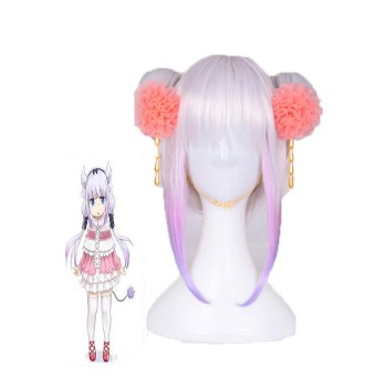 Miss Kobayashi's Dragon Maid Kanna Cosplay White Cosplay Wigs