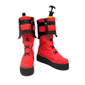 Guilty Gear Zapatos Sol Badguy Cosplay con color brillante