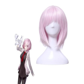 Fate/Grand Order Matthew Kyrielite Short Pink Anime Cosplay Wigs