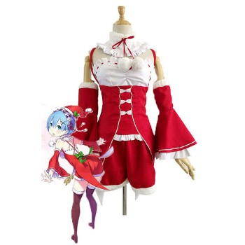 Re: Zero-Starting vida en otro mundo Rem Red Christmas Cosplay Disfraces