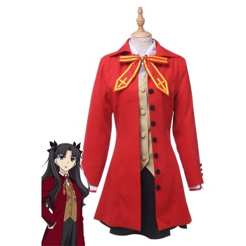 Anime Fate Stay Night Fate / Zero Tohsaka Rin Cosplay del traje de Cosplay del vestido