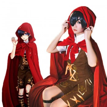 Black Butler Ciel Phantomhiv Little Red Riding Hood Cosplay Costume