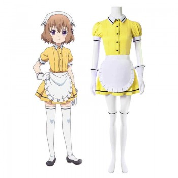 Blend S Mafuyu Hoshikawa Amarillo Anime Cosplay Disfraces