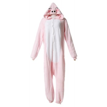 Cute Pig Fashion Pink Siamese Pyjamas