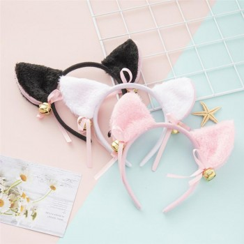 Cute Cat Ears Headband Cat Headdress Maid With Bell