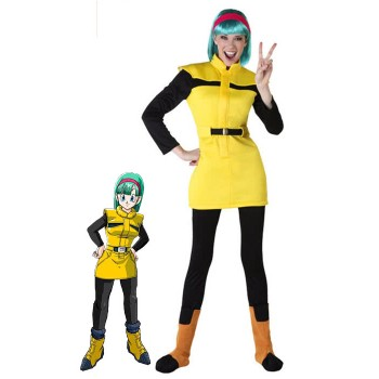 Trajes Bulma Dragon Ball Anime Cosplay de Halloween Disfraces de Adultos Niños