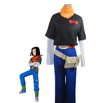 Dragon Ball Z Android traje de cosplay No.17