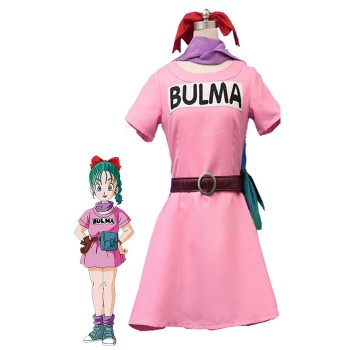 Trajes de cosplay Dragon Ball Z Bulma Anime