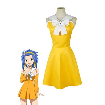 Fairy Tail Levy McGarden traje de cosplay vestido