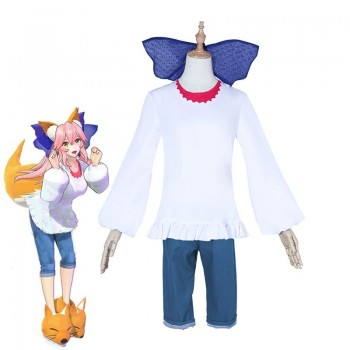 Fate EXTELLA LINK Servant Tamamo No Mae's Pajamas Cosplay Custume