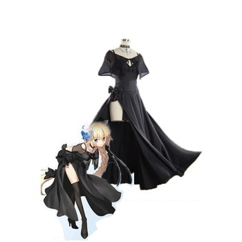 Fate / Grand Order Fate GO Jeanne D'Arco Negro Cosplay DressGame Cosplay Disfraces