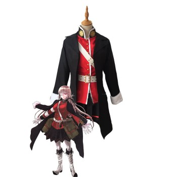 Fate Gran Orden FGO Nightingale Rojo Negro Cosplay Disfraces