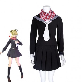 Fate Grand Order Nero Japanese School Uniform Cosplay Costume