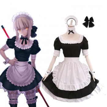 Fate Grand Order Nero Maid Cosplay Costume