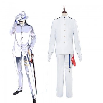 Fate/Grand Order Ryouma Sakamoto White Suit Cosplay Costume