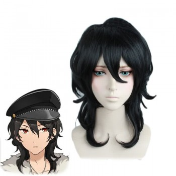 Game Ensemble Stars Rei Sakuma Black Curly Cosplay Wig